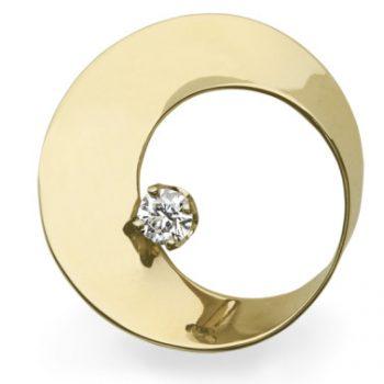 Mobius Twist diamond pendant yellow gold