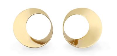 Mobius Twist yellow gold earrings