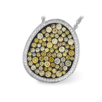 natural multi colored diamond pendant