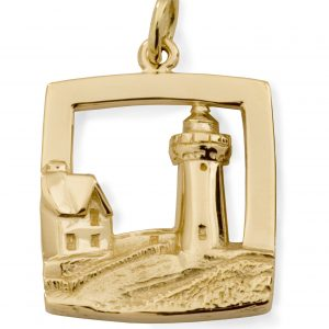 Nubble Lighthouse 14k yellow gold 230685