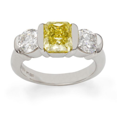 The Ridge Ring Natural Fancy Intense yellow