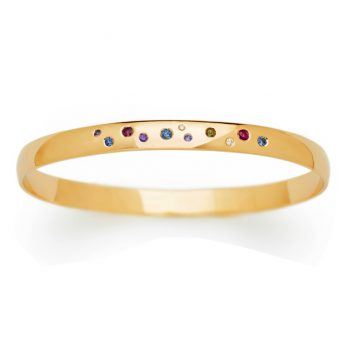 galaxy wide bangle with sapphires