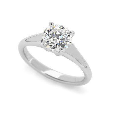 platinum simplicity engagement ring