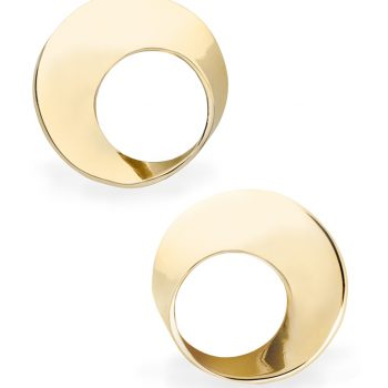 Mobius Twist Earrings yellow gold 10.5mm
