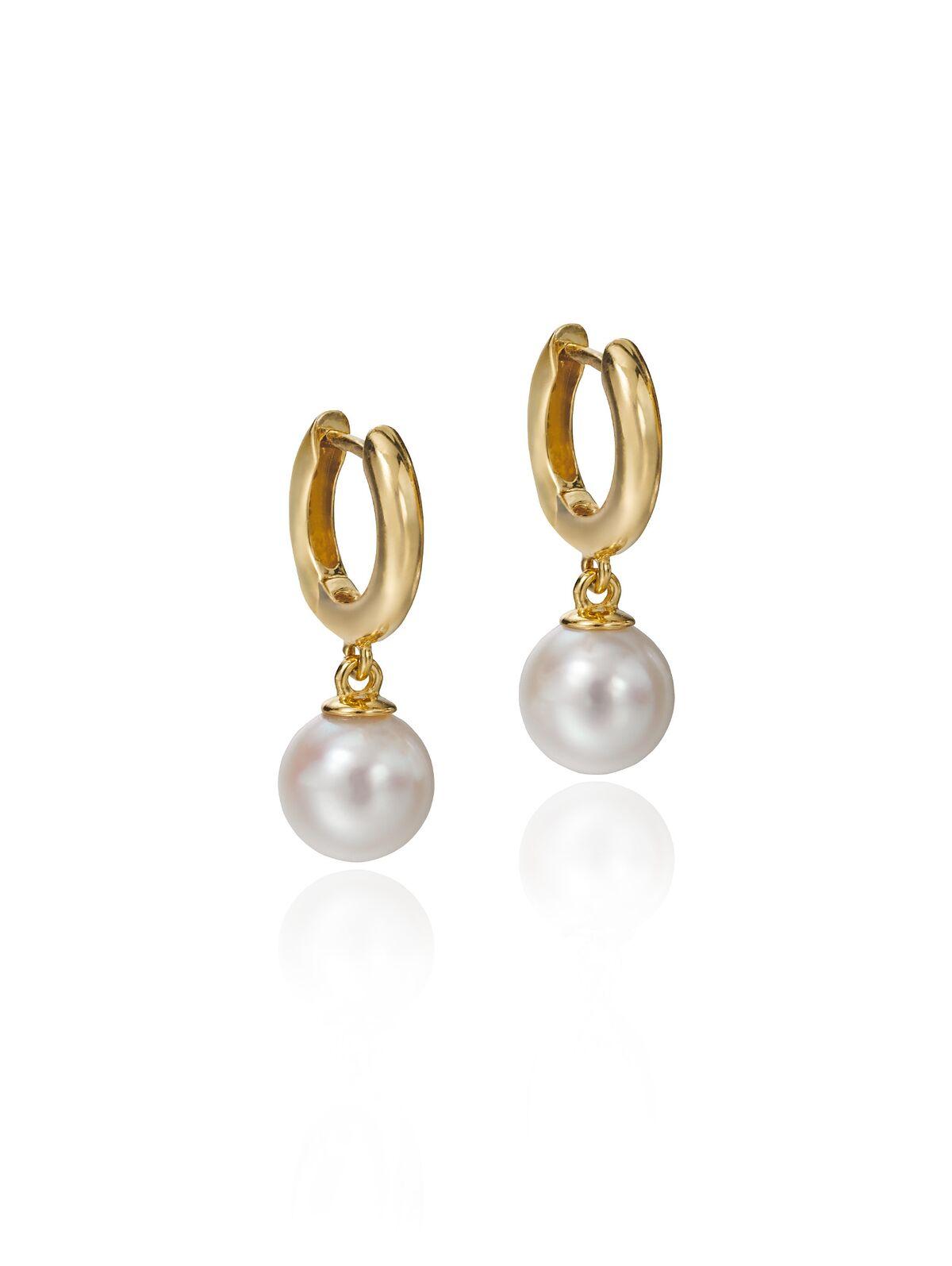 Hoop /& Pearl Drop Earring
