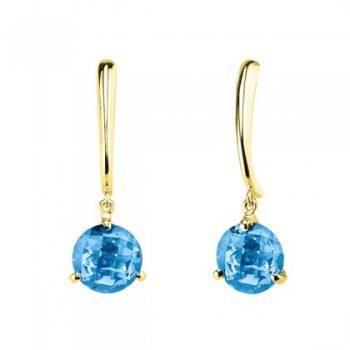 Blue Topaz gem dangle earrings
