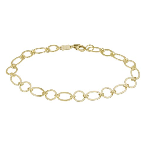 flat link yellow gold bracelet