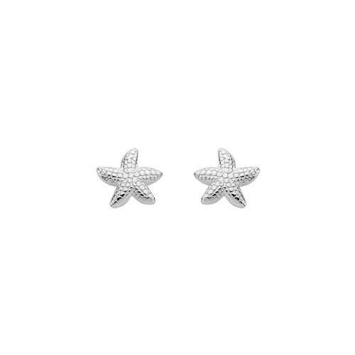 petite starfish stud earrings