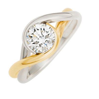 Embrace Two Tone Diamond Ring