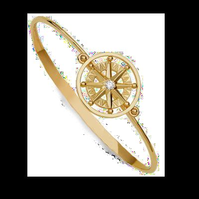 compass rose spin bracelet