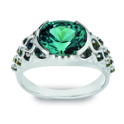 maris with blue-green tourmaline