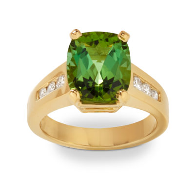 green tourmaline olympia ring