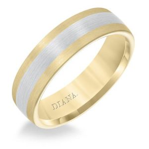 two tone brushed band