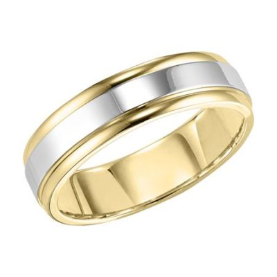 Men's brushed Band two tone