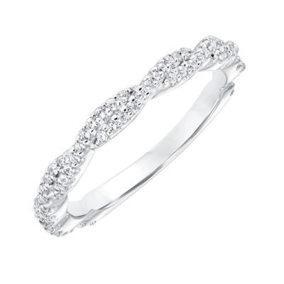 Diamond twist ring