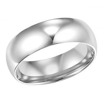 classic wedding Band 6mm low dome