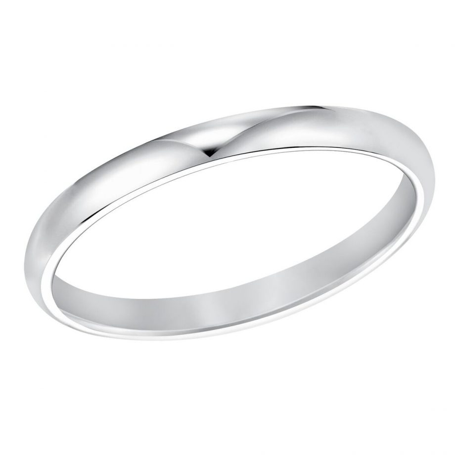 Platinum band low dome 2mm wide