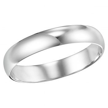Classic wedding band 4mm low dome