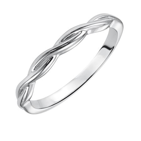 Twisted band in white gold 2mm