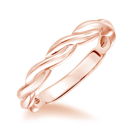 Twisted band rose gold