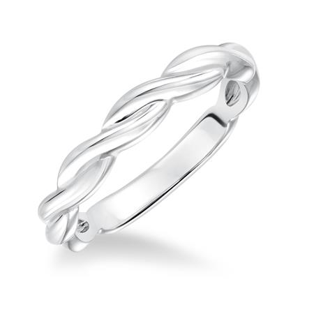 Twisted band in white gold