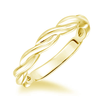 Twisted band in yellow gold 3mm