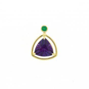 amethyst and emerald pendant