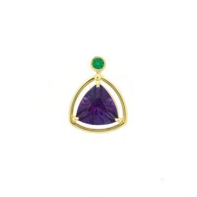 amethyst and emerald pendant