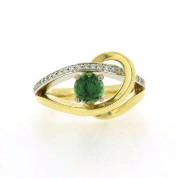vault sale green tourmaline ring