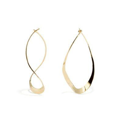 curvy teardrop earrings