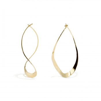 curvy teardrop earrings