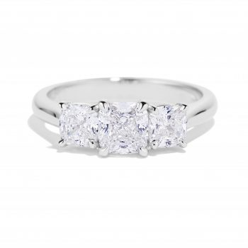 Cushion Cut Diamond trio