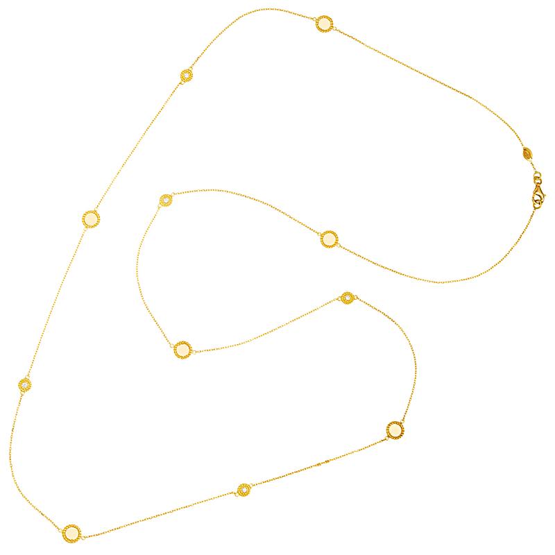 station disk necklace
