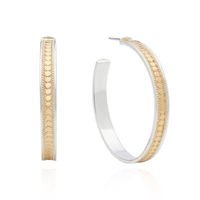 Anna Beck large hoop earrings gold