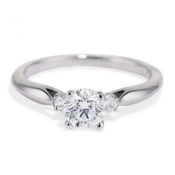 airline diamond engagement ring
