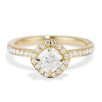 Diamond Cushion Cut Halo Ring