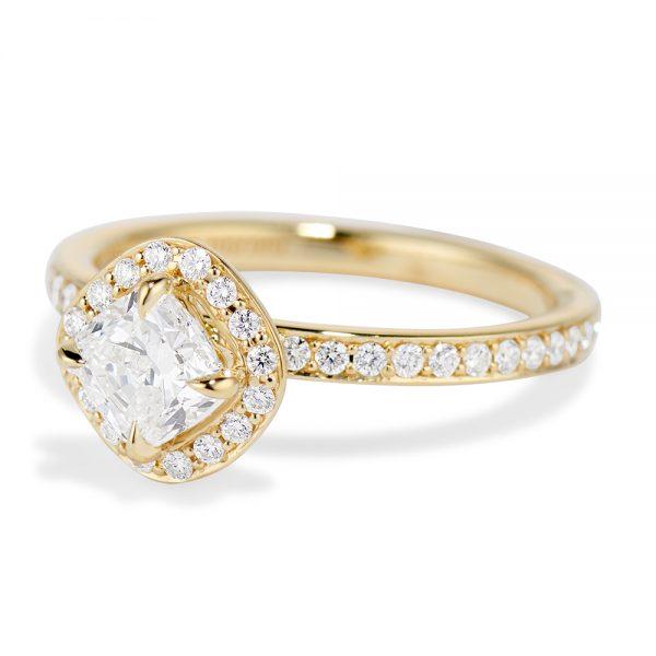 Diamond Cushion Cut Halo Ring