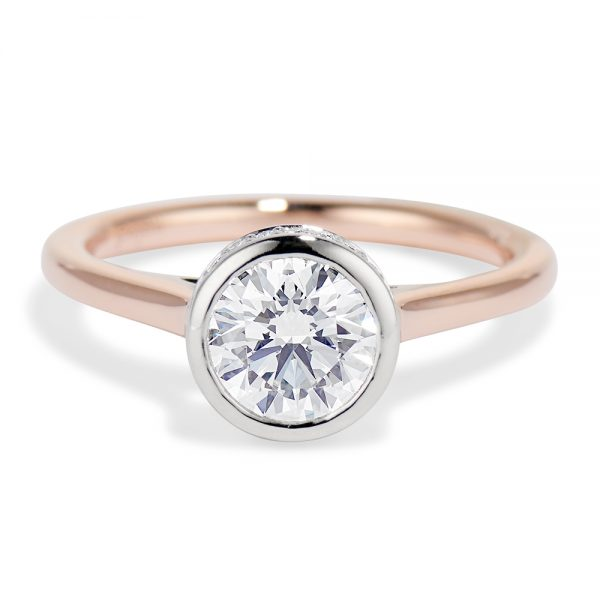 Contemporary Solitaire Diamond Ring