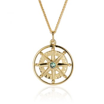Maine Tourmaline Compass Rose 18k yellow gold 393344