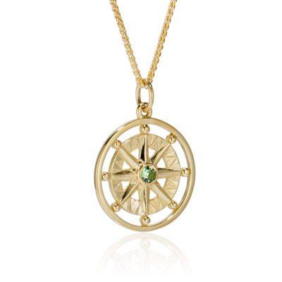 Green Tourmaline Compass Rose
