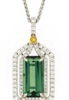 Emerald Cut Green Tourmaline
