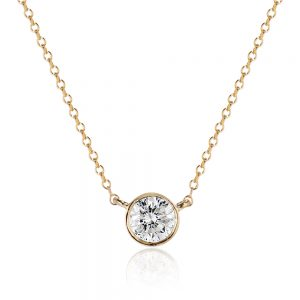 classic diamond pendant necklace