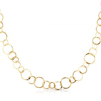 varied circle necklace