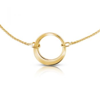 yellow gold ring necklace