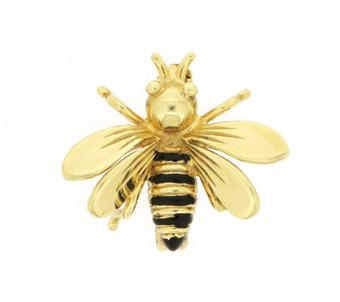 Bumblebee Pin Gold and black enamel