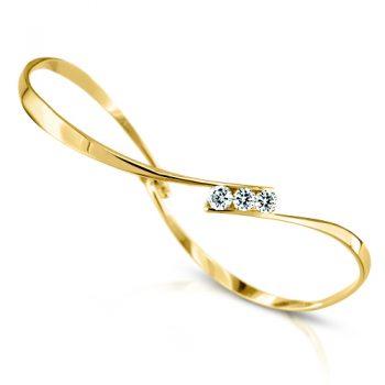 gold twist bracelet with diamonds
