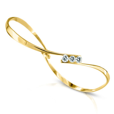 gold twist bracelet with diamonds