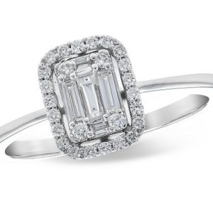 Diamond Halo Illusion Ring 020275