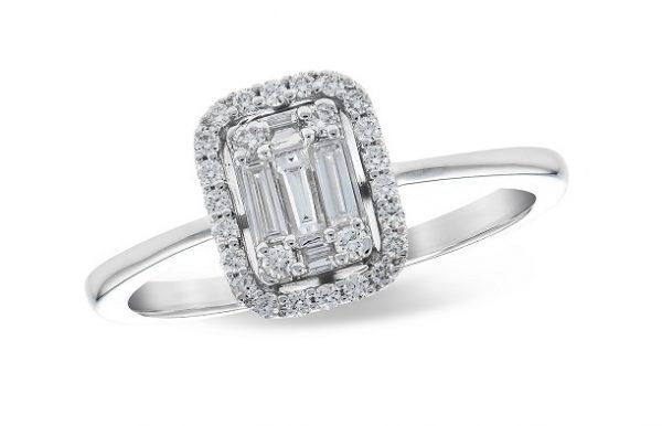 Diamond Halo Illusion Ring 020275