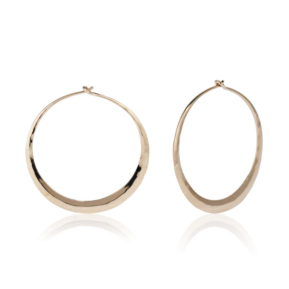 Flat Hammered Hoops